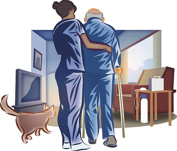 Best Home Caregiver Illustrations, Royalty.