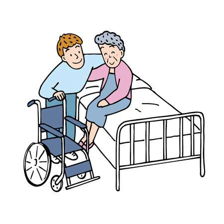 1,649 Caregiver Elderly Stock Vector Illustration And Royalty Free.