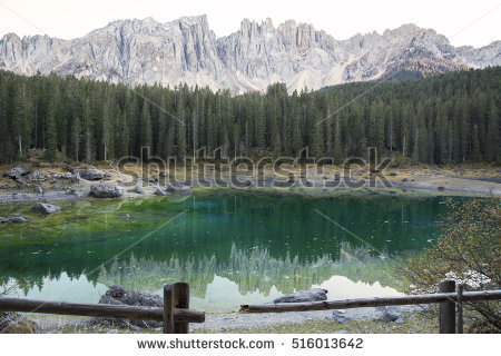 Carezza Lake Stock Photos, Royalty.