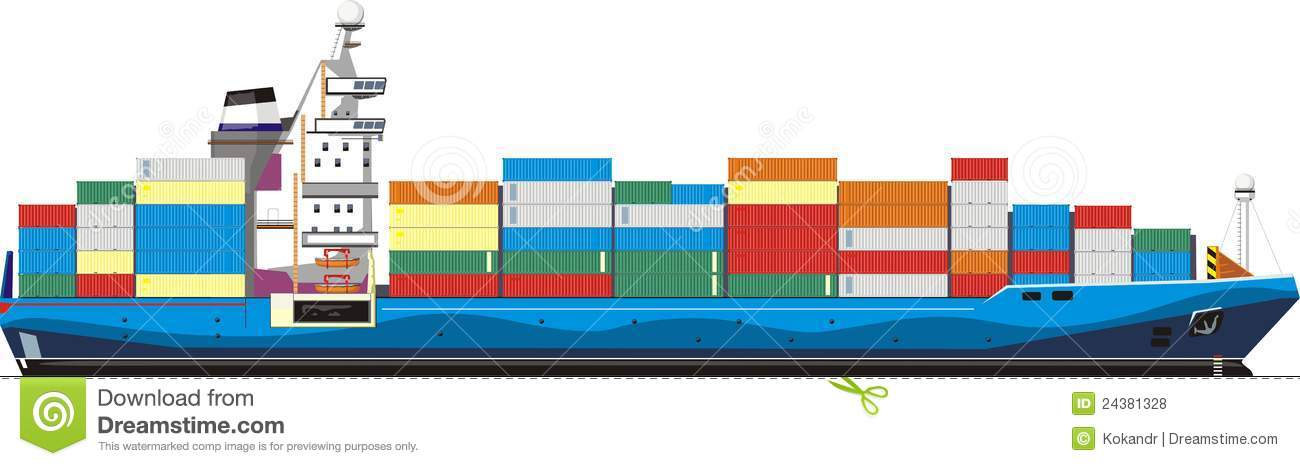 clipart container ship - photo #7