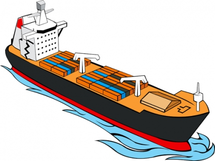Container ship clip art free.