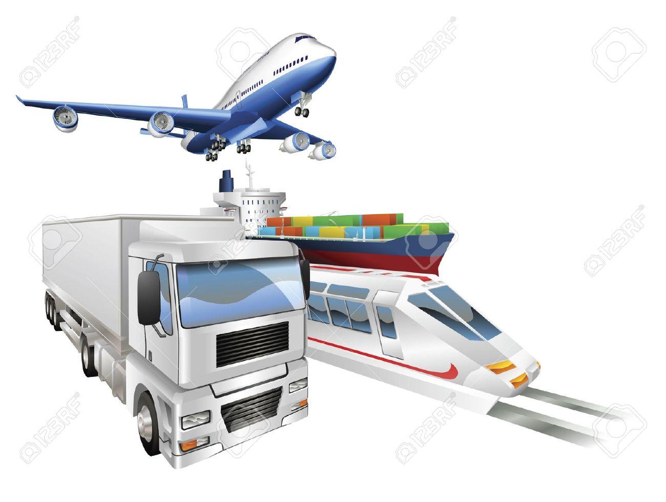 Distribution plane clipart.