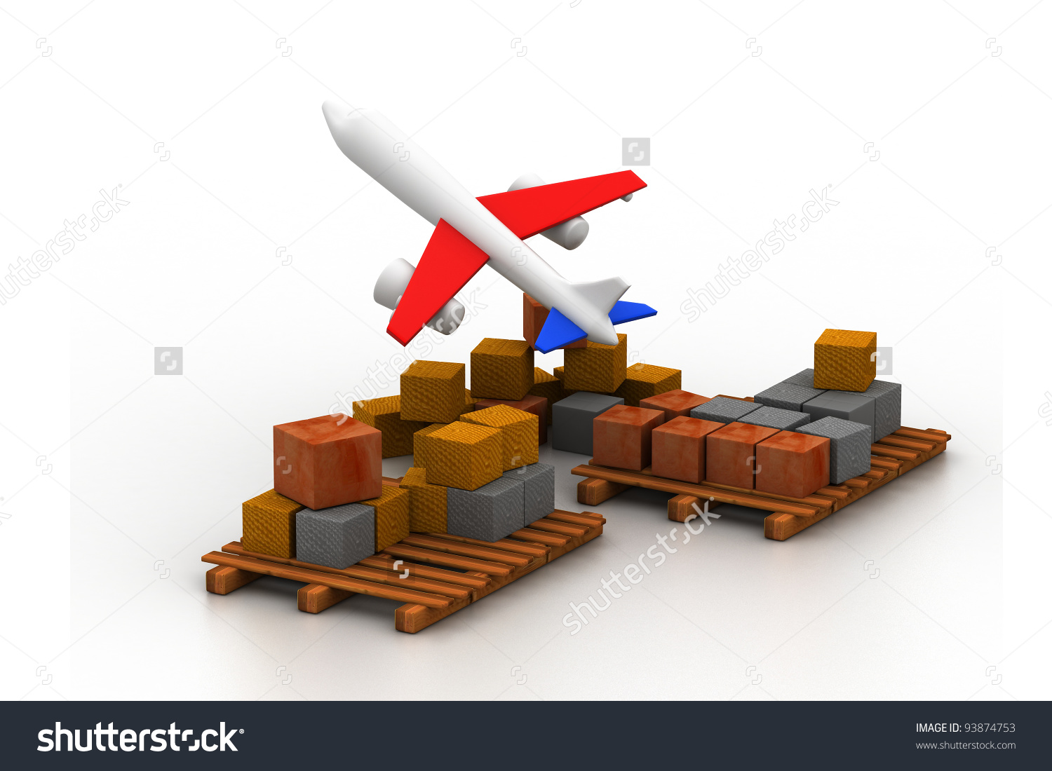 Cargo Plane Stock Illustration 93874753.