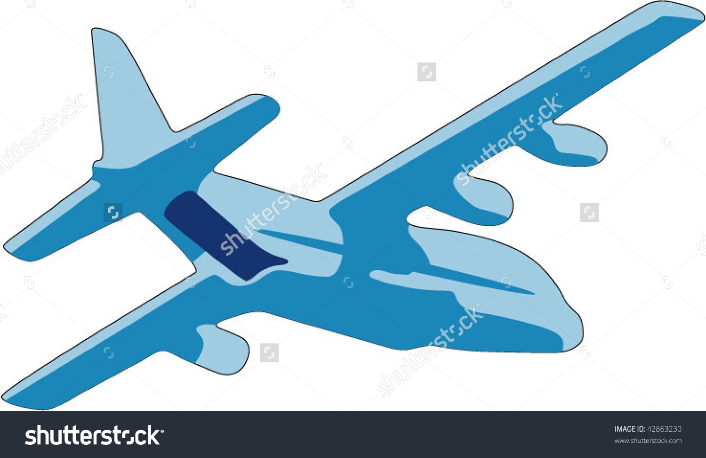 Clipart cargo plane.