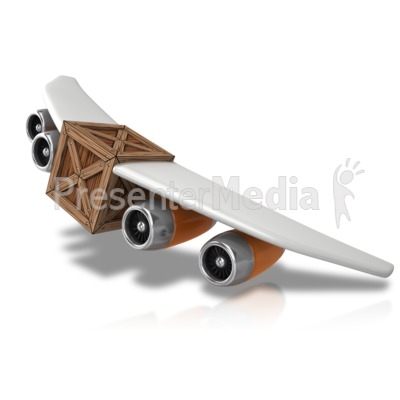 Cargo Airplane Clipart.