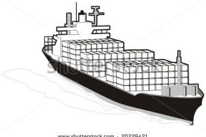 Cargo ship clipart black and white » Clipart Portal.