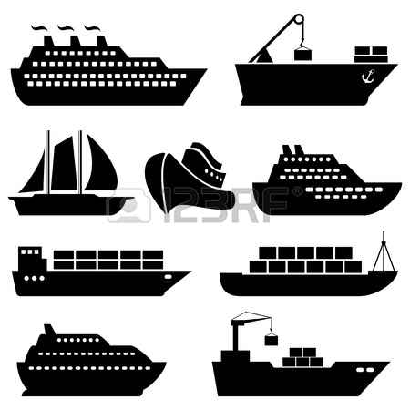 Cargo ship clipart black and white 2 » Clipart Station.