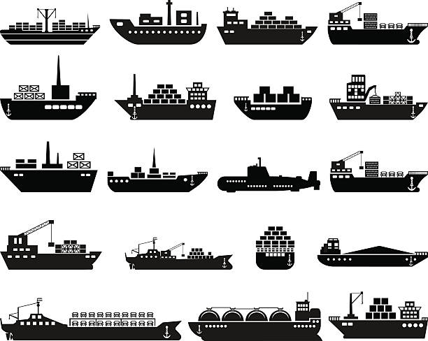 Best Container Ship Illustrations, Royalty.