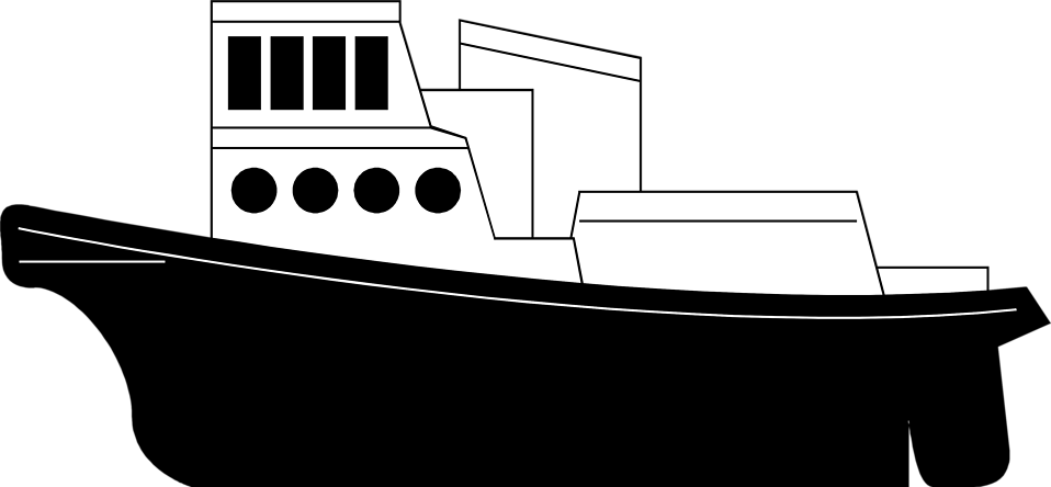 Cargo ship clipart black and white » Clipart Station.