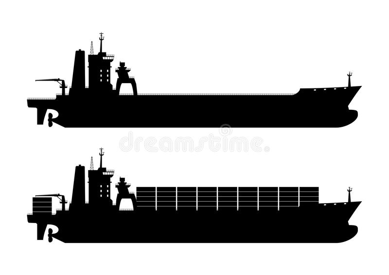 Container Ship Stock Illustrations.