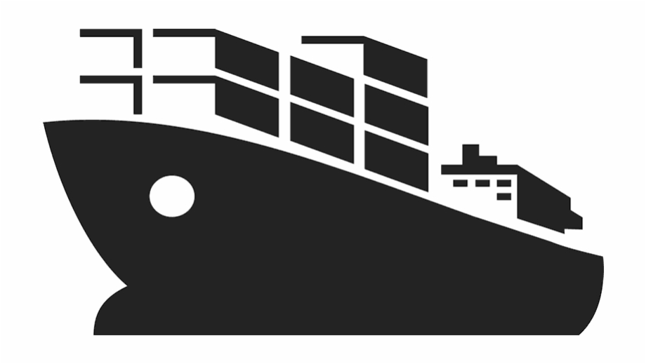 Cargo Boat Rubber Stamp.