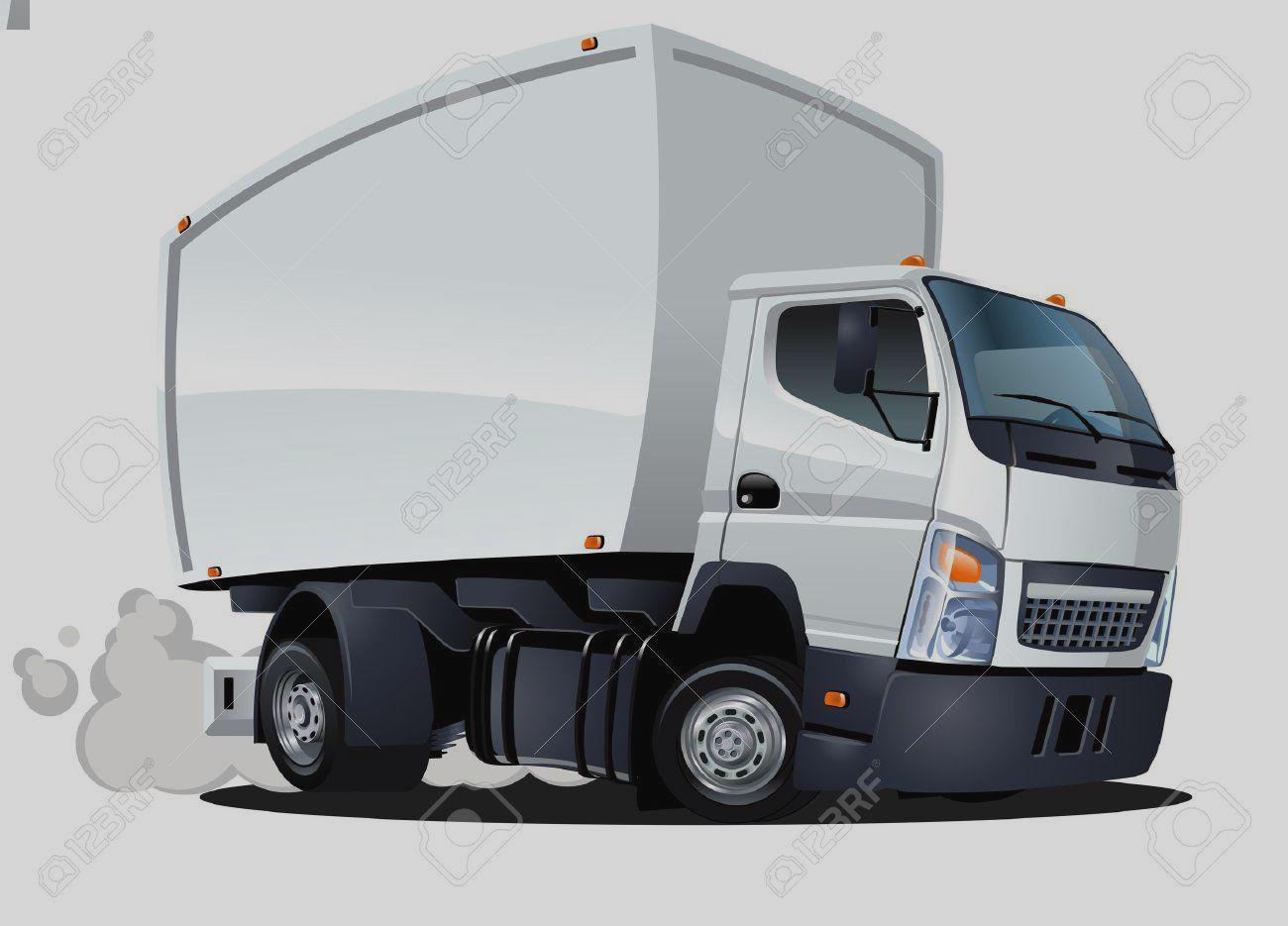 Cargo Truck Clipart for printable to.