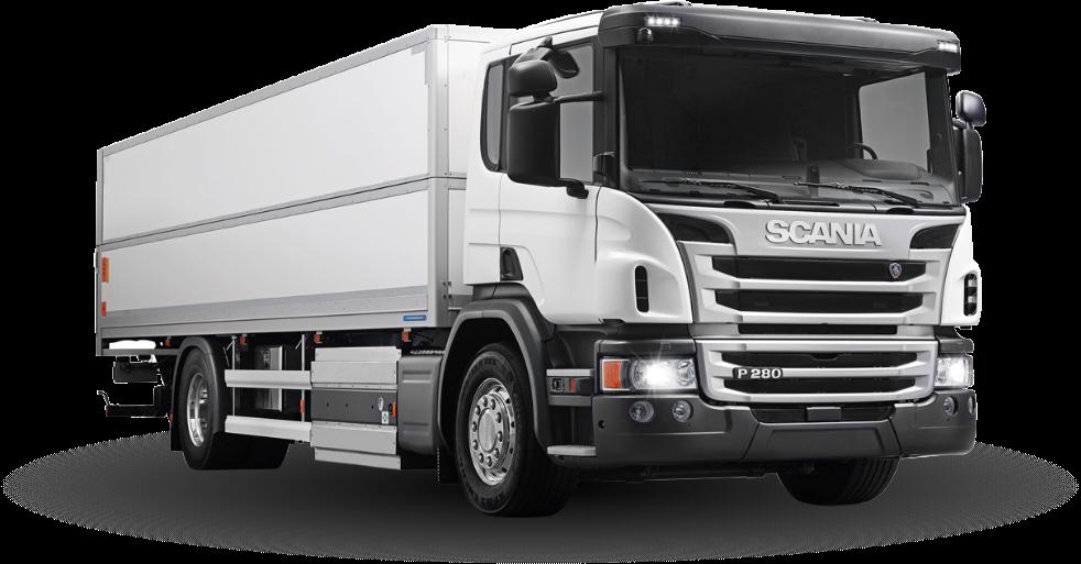 Cargo Truck Transparent Background.