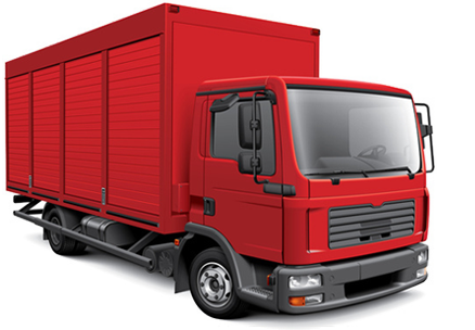 Cargo Truck PNG Background Image.