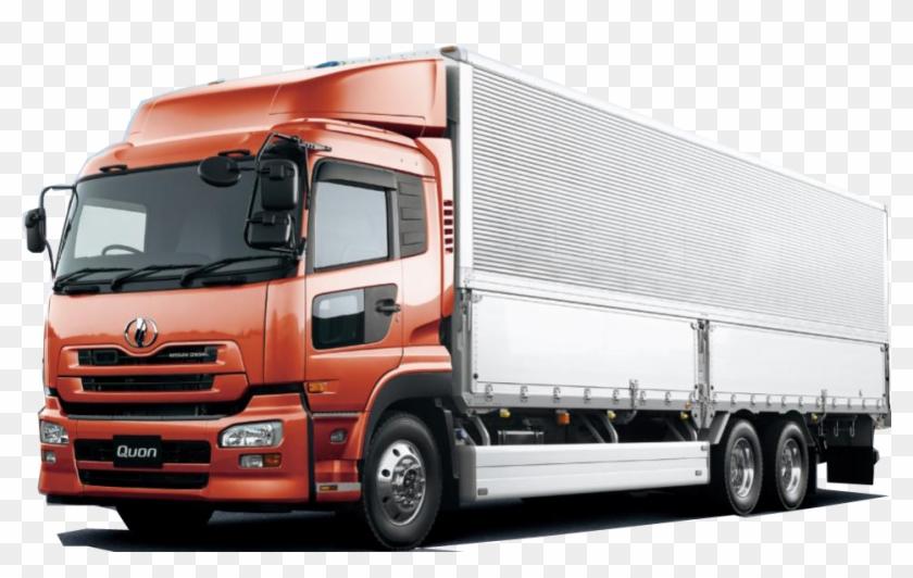 Orange Cargo Truck Png.