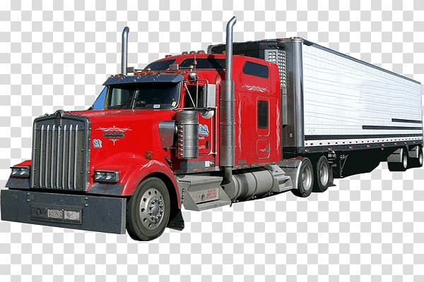 Cargo Truck transparent background PNG clipart.