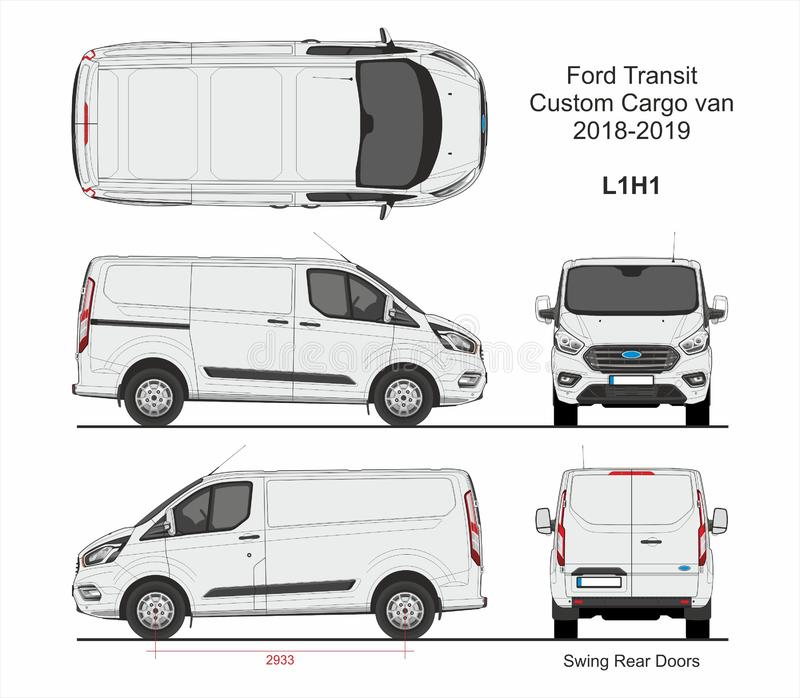 Cargo Van Stock Illustrations.