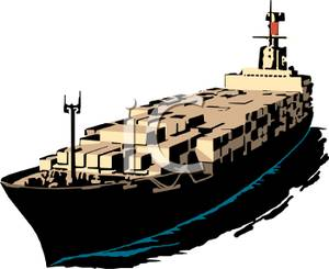 Container vessel clipart.