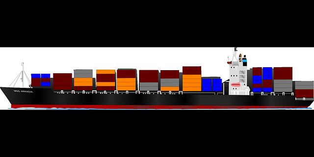 Cargo ship clip art free.