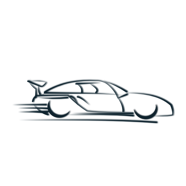 Newer car headlight clipart.