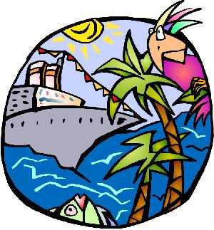 Caribbean cruise clip art.