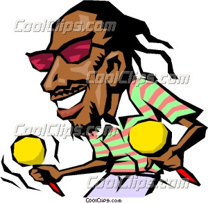 Cartoon Caribbean musician Clip Art.