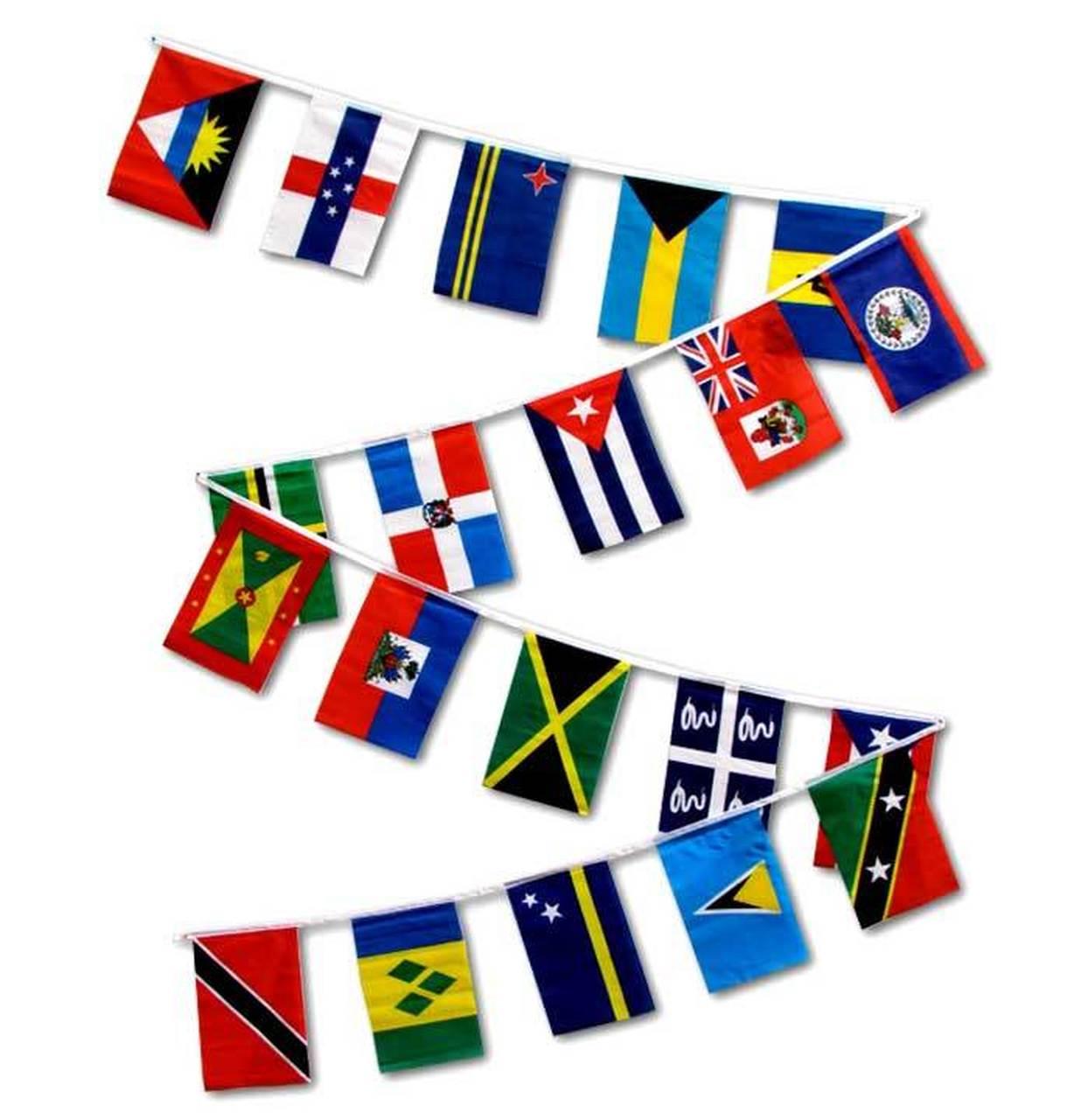 CARIBBEAN COUNTRIES 30' FLAG STRING.
