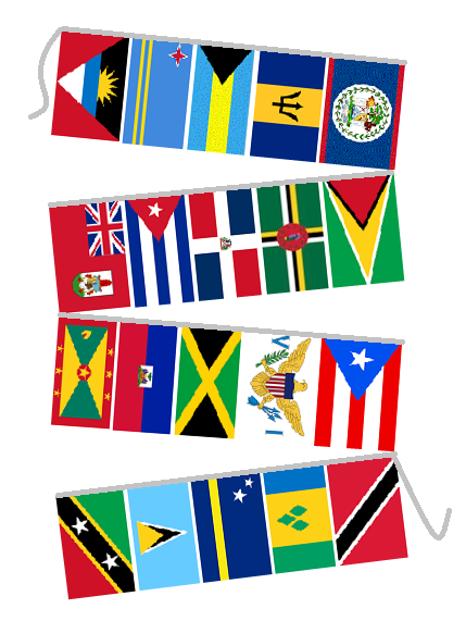 Decorative String Flags.