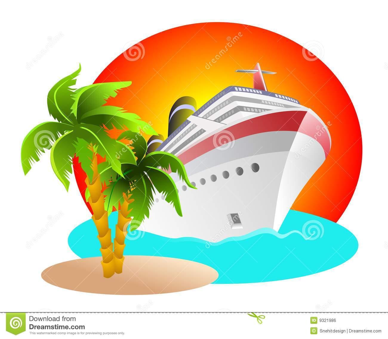 Caribbean cruise clipart.