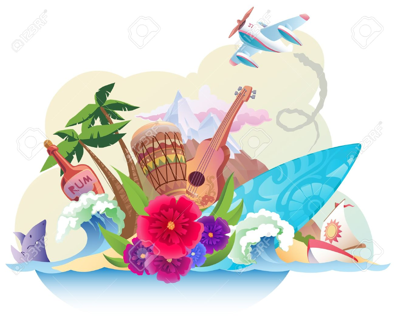 clipart caribbean islands - photo #17