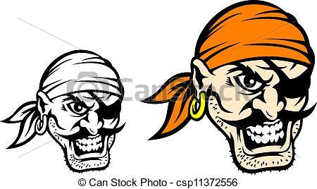 Clipart vectorial de Caribe, pirata, peligro.