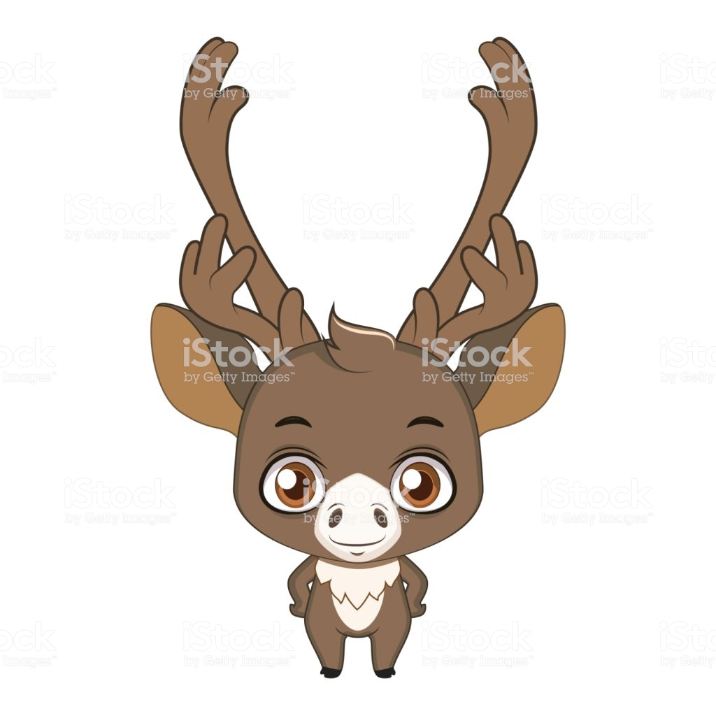Cute Stylized Cartoon Caribou Illustration Stock Vector Art & More.