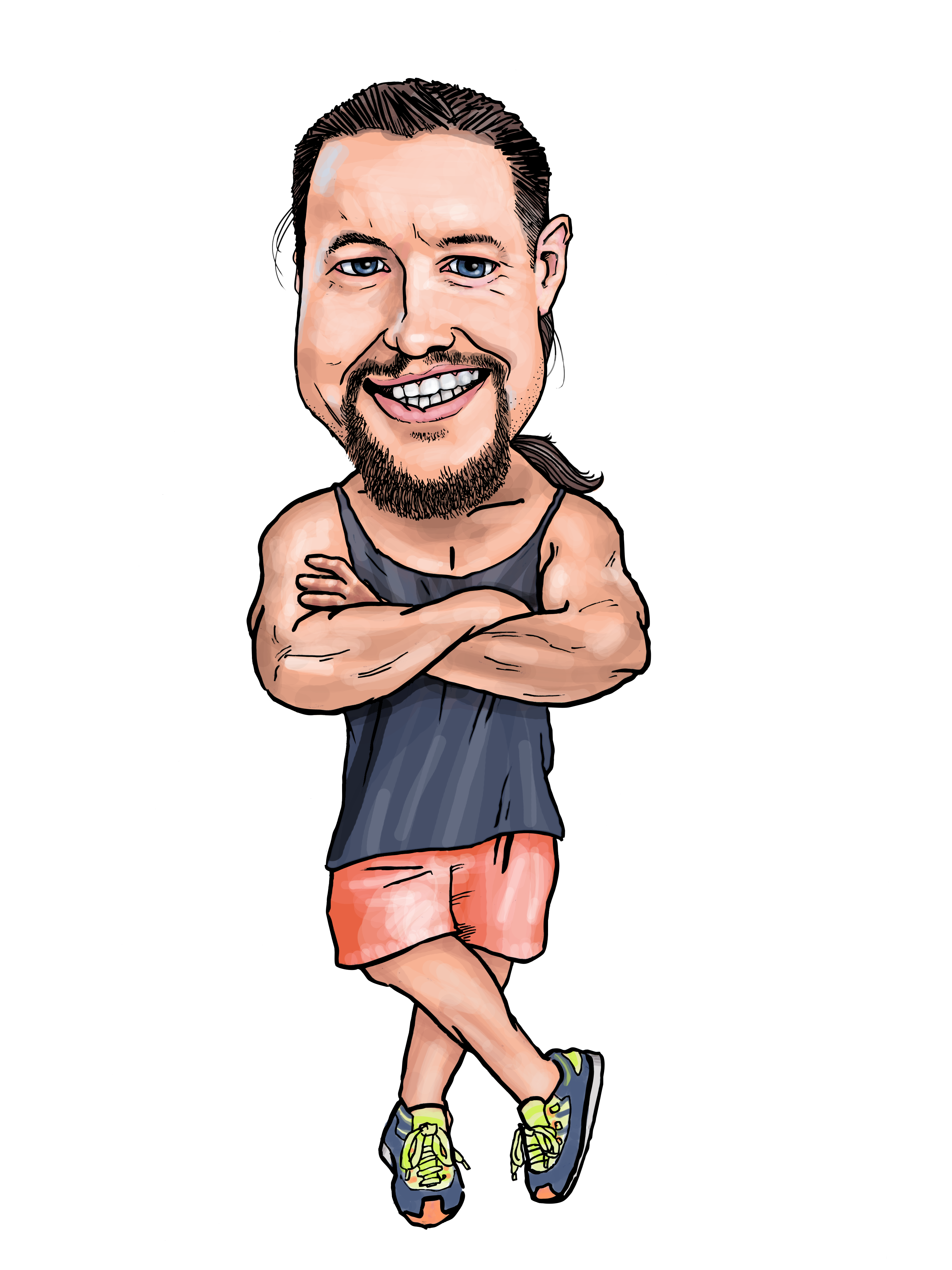 Full Figure Fiverr Caricature by Protoguy on DeviantArt.