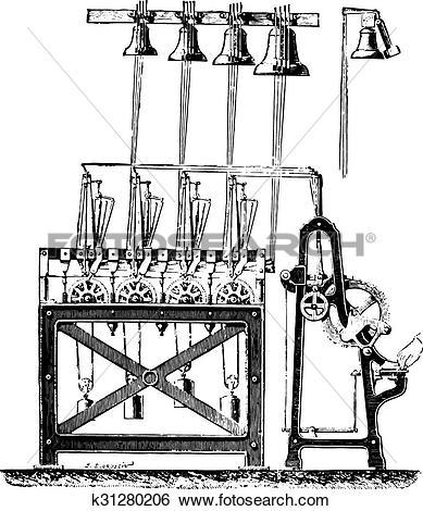 Clip Art of Final system carillon tower Saint.