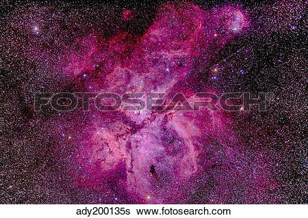 Stock Images of The Carina Nebula in the southern sky. ady200135s.