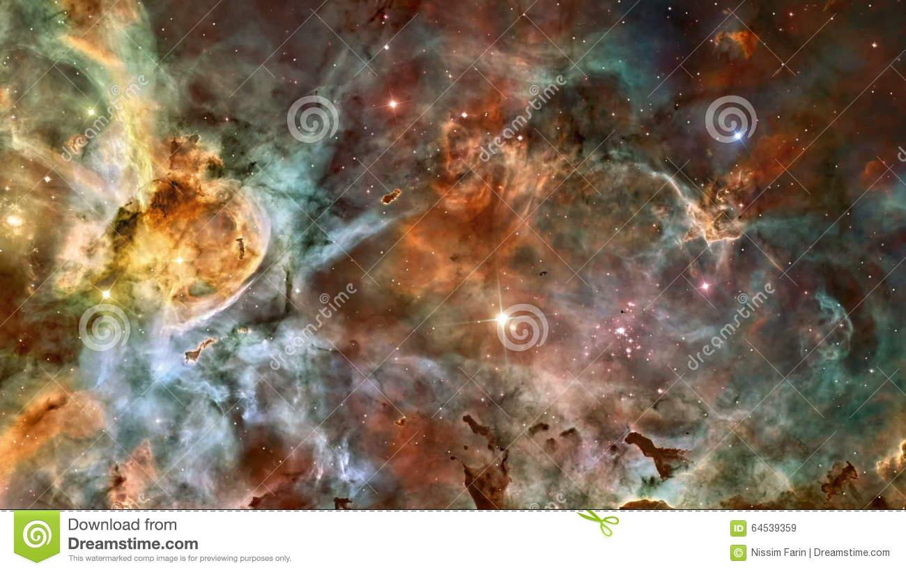 Eta Carinae Nebula In Outer Space Stock Video.