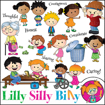 Clipart Values Caring Cuties {Lilly Silly Billy}.