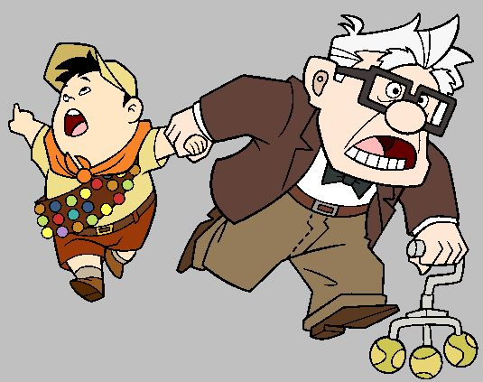 carl and russell clip art.