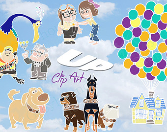 Up Movie House Sketch Clipart.