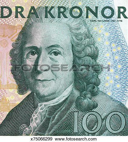 Stock Photograph of Portrain of Carl von Linne x75066299.