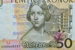 Carl Von Linne Swdish Botanist Banknote Stock Photo.