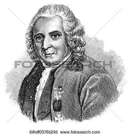"Stock Image of ""Portrait of Carl Linnaeus, also known as Carl von."