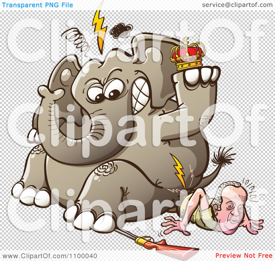 Clipart King Juan Carlos Of Spain Breaking His Hip As An Angry.