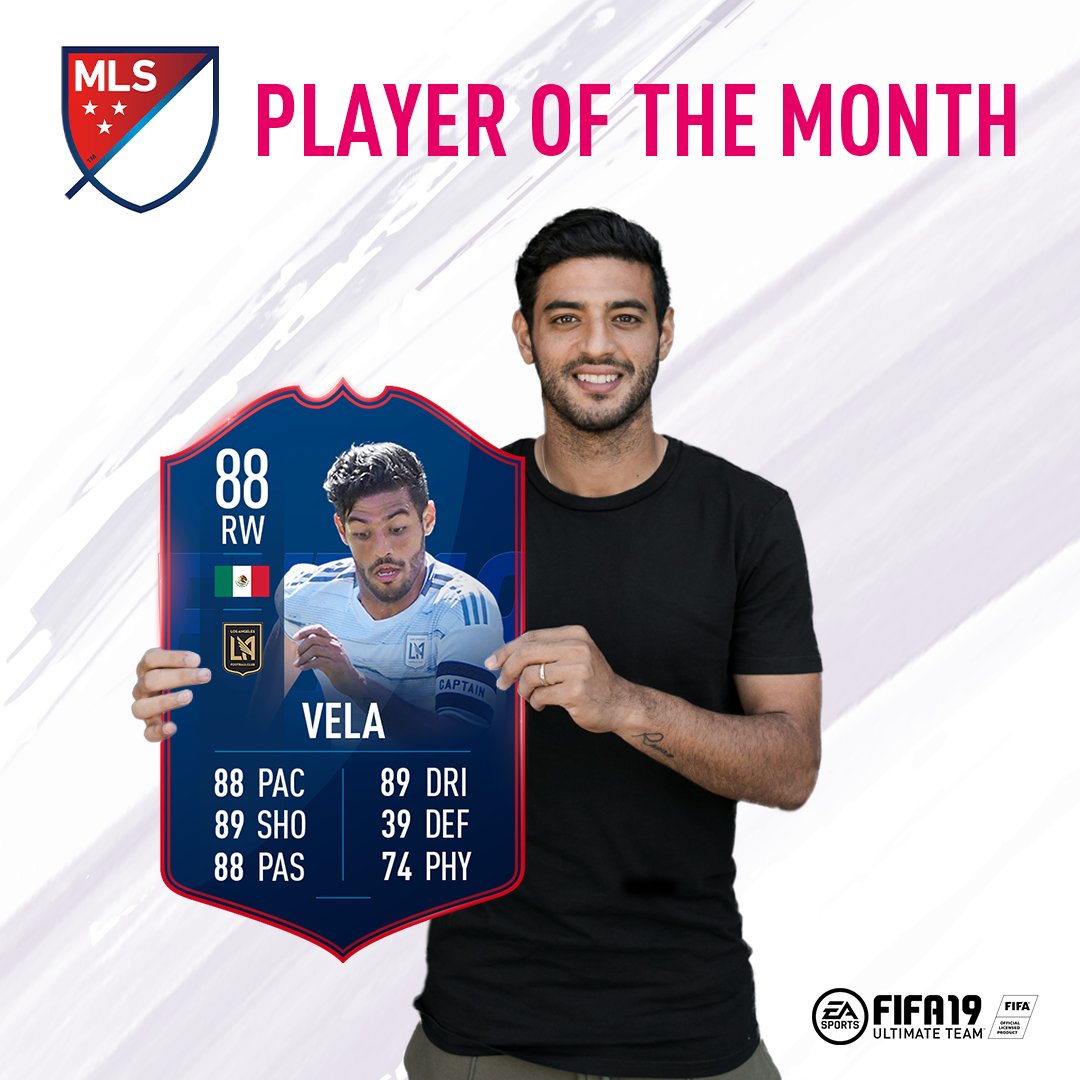 LAFC's Carlos Vela Voted MLS Player of the Month presented by EA.