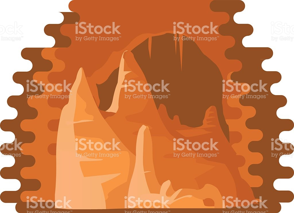 Carlsbad Caverns National Park Illustration stock vector art.