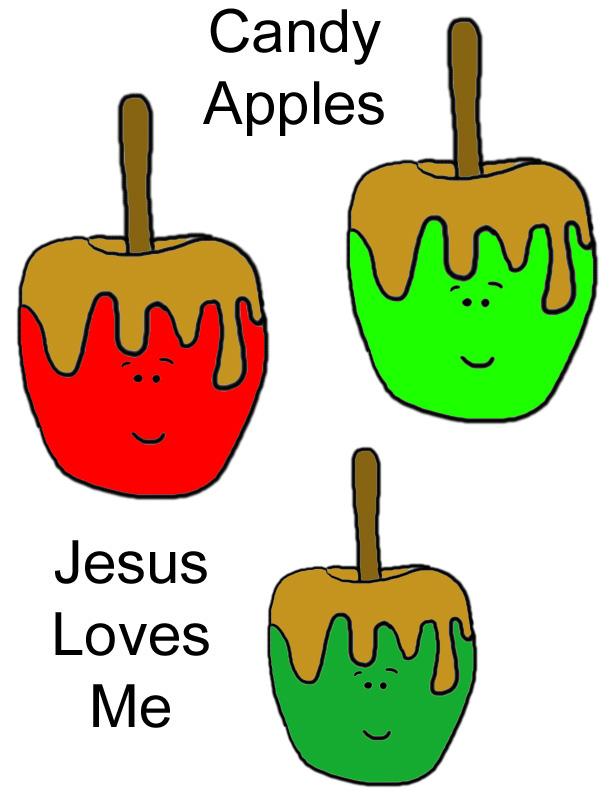 Cute carmel apple clipart.