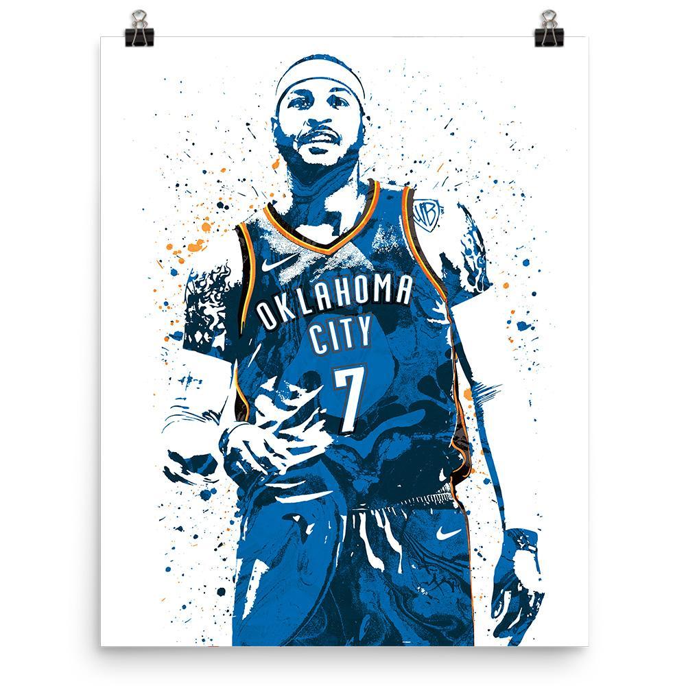 Carmelo Anthony Oklahoma City Thunder Poster.