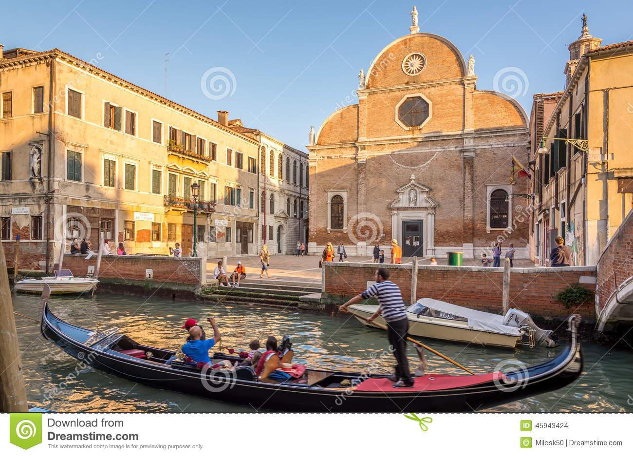 Chuch Santa Maria Dei Carmini In Venice Editorial Stock Image.