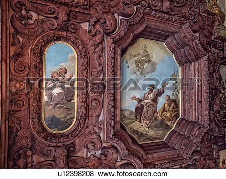 Pictures of Scuola Grande dei Carmini: detail of ornate wooden.