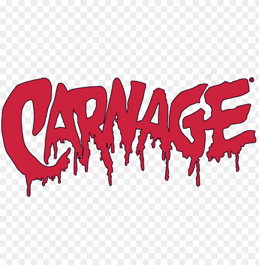 carnage logo PNG image with transparent background.